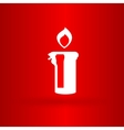Nice christmas candle with flame vector image vector image