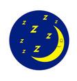 night sleep icon vector image