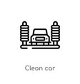 outline clean car icon isolated black simple line vector image vector image