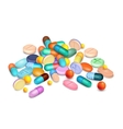 Pills Medical Realistic Composition vector image vector image