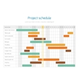 Project schedule chart overview planning timeline vector image vector image