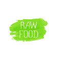 raw food concept logo design template vector image