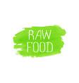 Raw food concept logo design template vector image