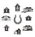 real estate set vector image vector image