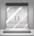 realistic detailed 3d glass transparent doors vector image