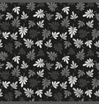 seamless grey natural leaves pattern vector image vector image