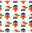 seamless school pattern made owls vector image vector image