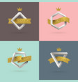 set abstract emblem with impossible shape vector image