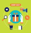 shop easy buy present and gift e - commerce vector image