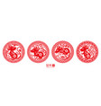 signs with rat for happy 2020 chinese new year vector image