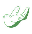 silhouette cute dove animal peace symbol vector image