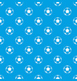 soccer ball pattern seamless blue vector image vector image