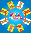 summer sea happy people vector image