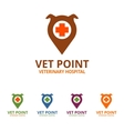 Vet Point Logo vector image vector image