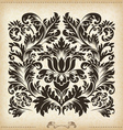 Vintage baroque border frame card cover vector image