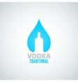 vodka bottle drop background vector image vector image