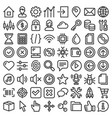 web gui elements and applications screen icons big vector image vector image