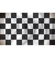 Checkered Race Flag vector image