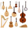 set of stringed dreamed musical instruments vector image