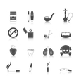 Smoking Icon Black Set vector image