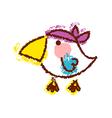 A bird is standing vector image vector image