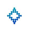 abstract molecular nanotechnology geometric shape vector image vector image