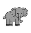 African elephant isolated icon