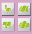 Animal Shape Frame Border Situate vector image vector image