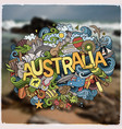 australia hand lettering and doodles elements and vector image vector image