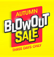 autumn blowout sale banner special offer three vector image vector image