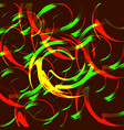 background of fire circles vector image