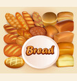 background store of bread and baking fresh bread vector image