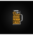 beer mug design background vector image vector image