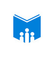 book education school logo icon vector image