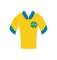 brazil soccer tshirt flat style icon design vector image vector image