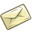 cartoon letter mail icon vector image