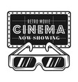 cinema signboard and 3d glasses objects vector image vector image