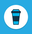 coffee icon colored symbol premium quality vector image