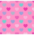 Colorful seamless pattern in halftone hearts vector image vector image