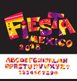 cool carnival or fiesta abc vector image vector image