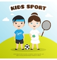 cute cartoon style kids sports vector image vector image