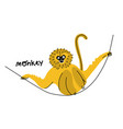 cute funny exotic monkey vector image vector image