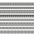 decorative seamless borders vintage set vector image vector image
