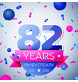 Eighty two years anniversary celebration on grey vector image vector image