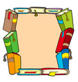 frame from various books vector image