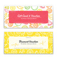 fruit theme gift certificate voucher gift card vector image vector image
