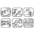 gardening doodle vector image