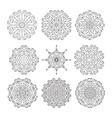 Geometric designs floral doodle elements vector image