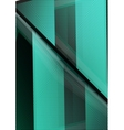 Glass geometric info background vector image