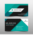 green corporate business card name card template vector image